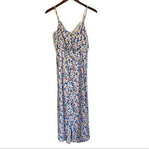 MIMI CHICA Floral Button Keyhole Tie Midi Dress XL